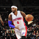 DETROIT, MI - DECEMBER 19: Josh Smith #6 of the Detroit Pistons drives to the basket against the Toronto Raptors during the game on December 19, 2014 at Palace of Auburn Hills in Detroit, Michigan. (Photo by Allen Einstein/NBAE via Getty Images)