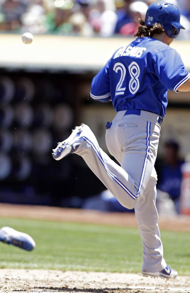 Jose Bautista's double lifts Blue Jays past A's