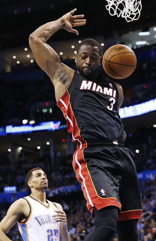 James leads Heat past Thunder