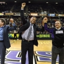 FILE - In this Feb. 28, 2012, file photo, Sacramento Mayor Kevin Johnson, center, celebrates a tentative agreement to build a new arena and keep with the in Sacramento, Calif., with Sacramento Kings owners Joe, left, and Gavin Maloof, right, during a timeout in an NBA basketball game in Sacramento, Calif. After backing out of the deal to build a new arena in Sacramento and announcing the sale of the Kings to a group that wants to move the team to Seattle, the brothers have become the city's most-reviled villains heading into a preliminary NBA meeting on the issue Wednesday, April 3, 2013, in New York. (AP Photo/Steve Yeater, File)