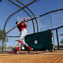 St. Louis Cardinals' Peter Bourjos takes batting practice during spring training baseball Sunday, Feb. 16, 2014, in Jupiter, Fla The Associated Press