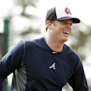 Atlanta Braves pitcher Gavin Floyd smiles during a spring training baseball workout, Thursday, Feb. 13, 2014, in Kissimmee, Fla The Associated Press