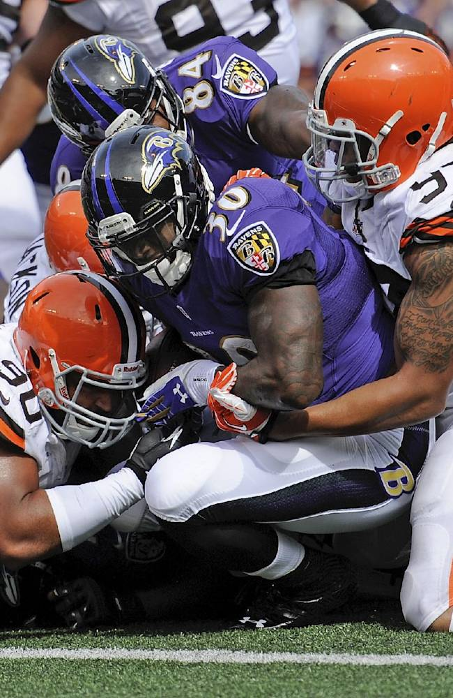Ravens RB Rice 'day-to-day' with hip injury