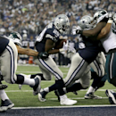 Dallas Cowboys running back DeMarco Murray (29) scores a touchdown against the Philadelphia Eagles during the first half of an NFL football game, Thursday, Nov. 27, 2014, in Arlington, Texas The Associated Press