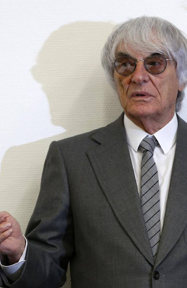 Formula One boss  Bernie Ecclestone arrives at   the regional court in Munich , Germany on  Tuesday June 24, 2014. Ecclestone is charged with bribery and incitement to breach of trust