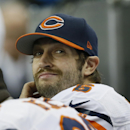 Chicago Bears quarterback Jay Cutler looks towards the scoreboard during the second half of an NFL football game against the Detroit Lions in Detroit, Thursday, Nov. 27, 2014 The Associated Press