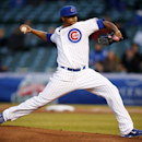 Chicago Cubs starting pitcher Edwin Jackson pitches against the Pittsburgh Pirates during the first inning of a baseball game on Tuesday, April 8, 2014, in Chicago The Associated Press