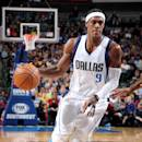 DALLAS, TX - DECEMBER 26: Rajon Rondo #9 of the Dallas Mavericks handles the ball against the Los Angeles Lakers on December 26, 2014 at the American Airlines Center in Dallas, Texas. (Photo by Danny Bollinger/NBAE via Getty Images)
