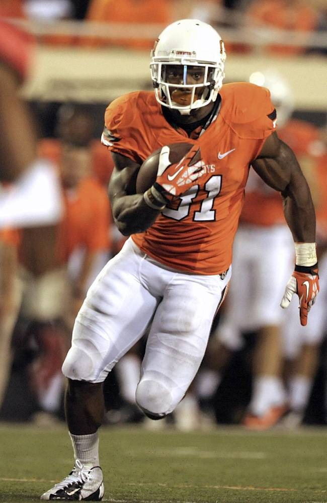 RB Smith helps No. 11 Oklahoma St to 3-0 start