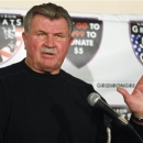 FILE - In this Oct. 27, 2009 file photo, former Chicago Bears tight end and head coach Mike Ditka speaks at a news conference in Chicago. The Bears announced Friday, May 24, 2013, that they will retire Ditka's No. 89 during halftime of the Dec. 9, 2013, Monday Night Football game against the Dallas Cowboys at Soldier Field in Chicago. (AP Photo/Kiichiro Sato, File)