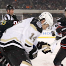 Toews powers Blackhawks to snowy win over Penguins The Associated Press