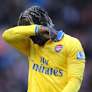 Arsenal's Bacary Sagna leaves the field after the English Premier League soccer match between Stoke City and Arsenal at Britannia Stadium in Stoke On Trent, England, Saturday, March 1, 2014
