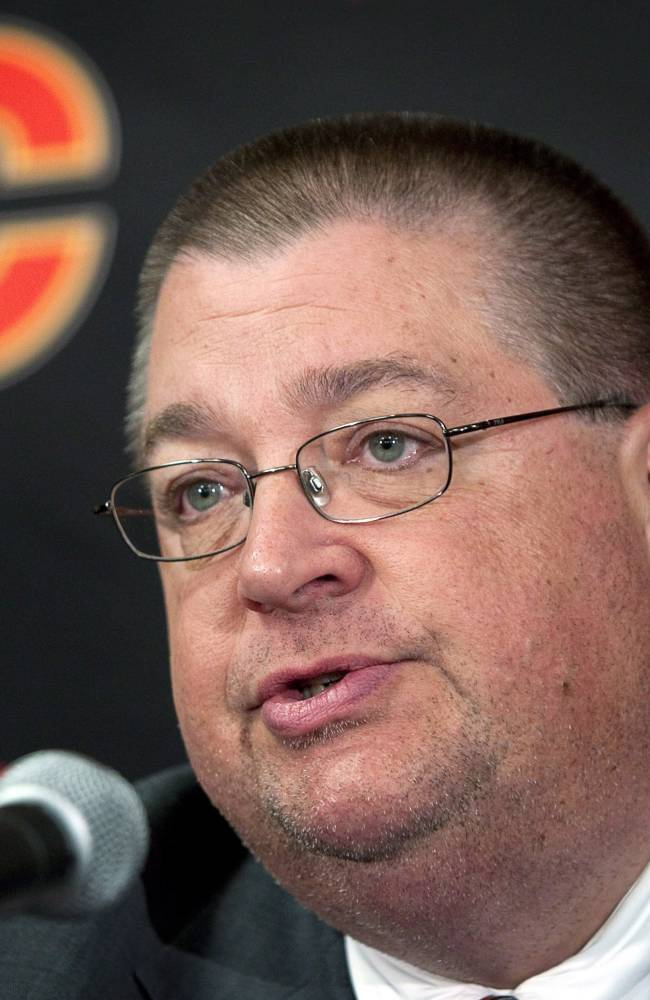 Flames fire general manager Jay Feaster, assistant