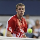 FILE - In this Aug. 31, 2011, file photo, Jack Sock, of the United States,...</p>