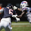 Buffalo Bills defensive back Nickell Robey (37) puts pressure on Chicago Bears quarterback Jay Cutler (6) during the second half of an NFL football game Sunday, Sept. 7, 2014, in Chicago The Associated Press