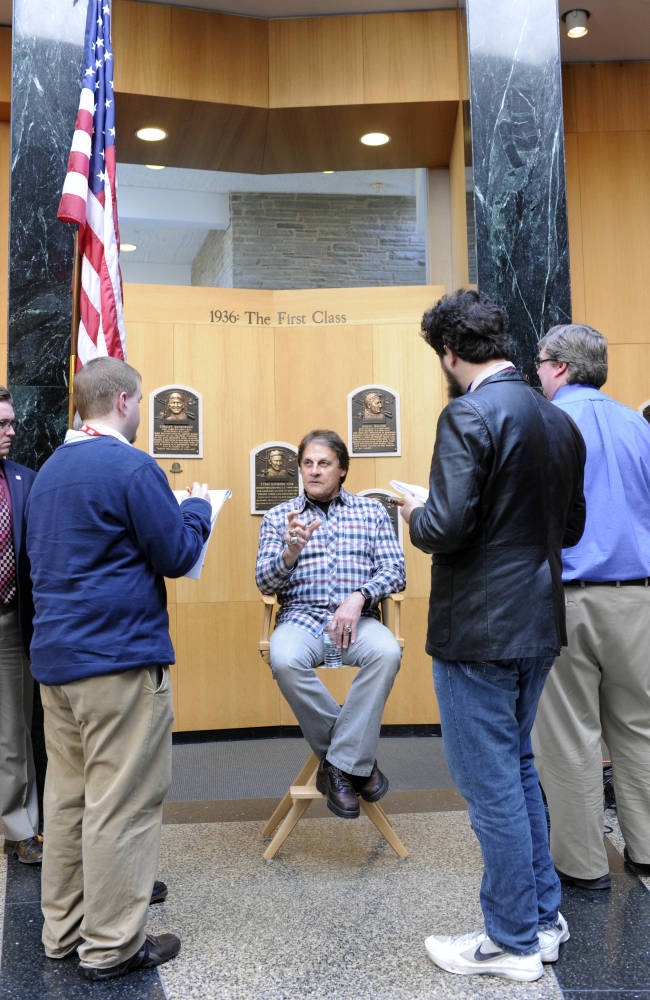 Tony La Russa awed by Baseball Hall of Fame