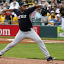 New York Yankees starting pitcher Ivan Nova throws in the first inning of an exhibition spring training baseball game against the Pittsburgh Pirates in Bradenton, Fla., Wednesday, Feb. 26, 2014. The Pirates won 6-5 The Associated Press