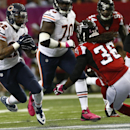 Chicago Bears running back Matt Forte (22) moves against Atlanta Falcons defensive back Kemal Ishmael (36) during the first half of an NFL football game, Sunday, Oct. 12, 2014, in Atlanta The Associated Press