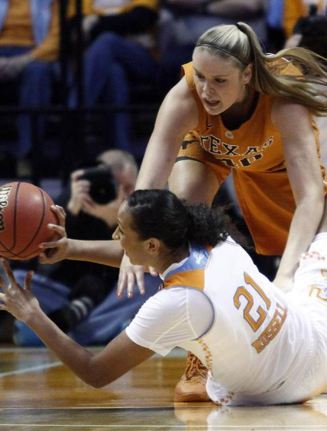 No. 3 Lady Vols pull away from Texas 75-61