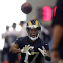 Rams wide receiver Jamaine Sherman catches a pass during the first day of NFL football training camp, Tuesday, July 22, 2014, at Rams Park in Earth City, Mo The Associated Press