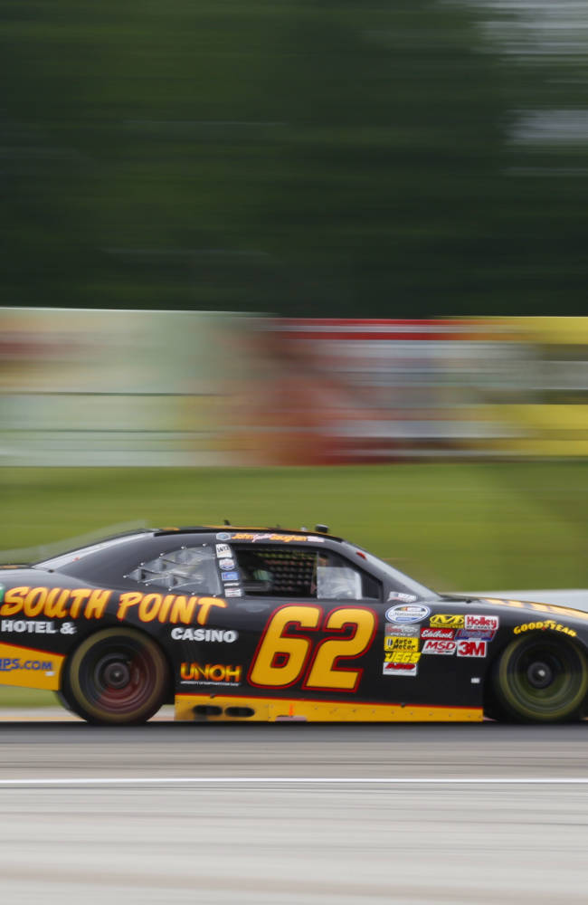 Brendan Gaughan wins at rainy Road America
