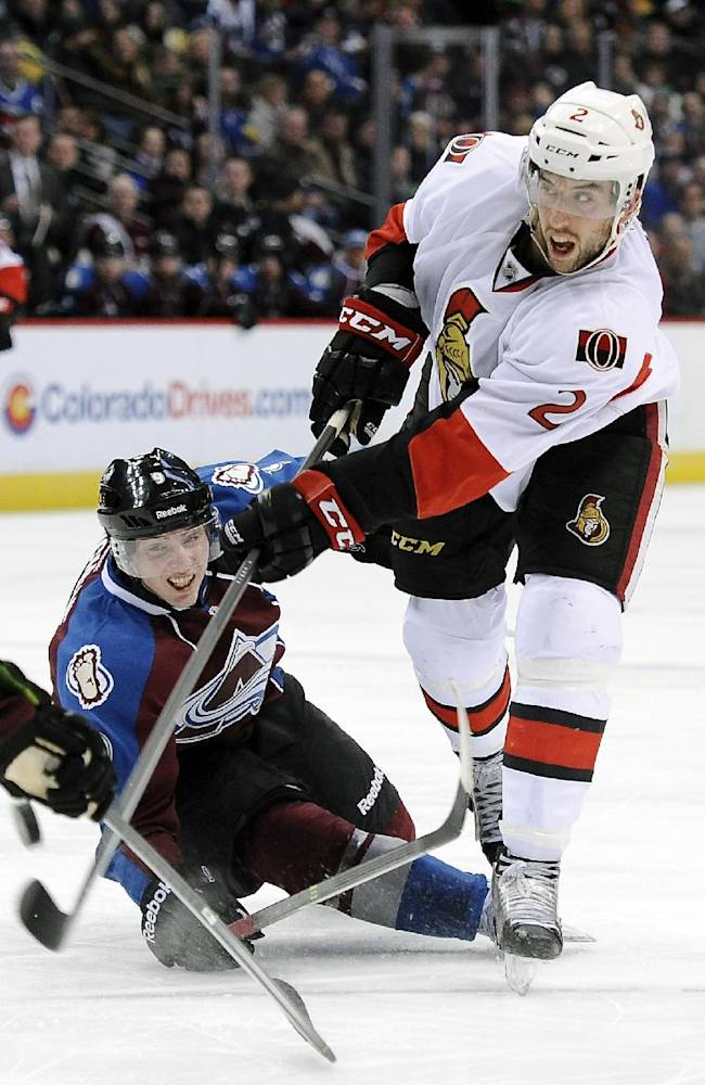 Barrie's OT goal lifts Avs past Senators 4-3