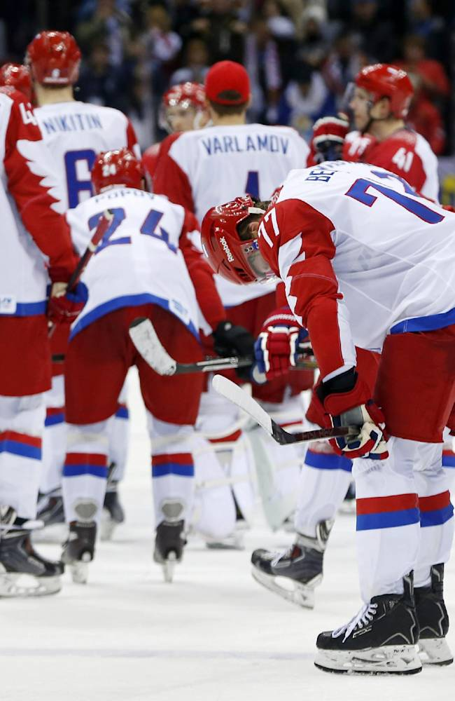 Russia knocked out of Olympic hockey by Finns, 3-1