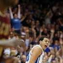 Duke's Seth Curry, who scored a game-high 31 points against Santa Clara, celebrates a 3-pointer during the second half of an NCAA college basketball game in Durham, N.C., Saturday, Dec. 29, 2012.  Duke won 90-77.  (AP Photo/Ted Richardson)