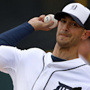 Detroit Tigers starting pitcher Rick Porcello warms up before a spring training baseball game against the Atlanta Braves in Lakeland, Fla., Thursday, Feb. 27, 2014. The Tigers won 5-2 The Associated Press