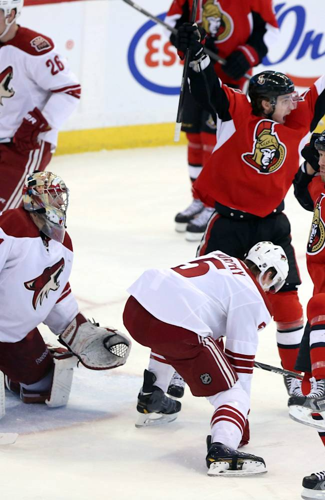 Vermette lifts Coyotes past Senators in OT