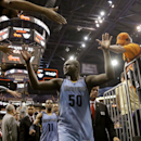 Memphis Grizzlies' Zach Randolph (50) leaves the court after an NBA basketball game against the Phoenix Suns, Monday, April 14, 2014, in Phoenix. The Grizzlies won 97-91 The Associated Press