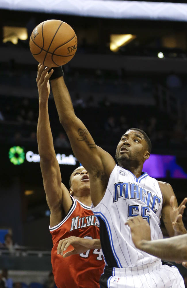 Afflalo rallies Magic past Bucks 94-91
