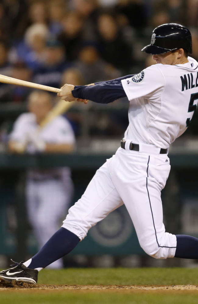 Miller homers twice, Mariners top A's 7-5