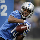 Detroit Lions wide receiver Golden Tate catches a pass during NFL football training camp in Allen Park, Mich., Monday, July 28, 2014 The Associated Press