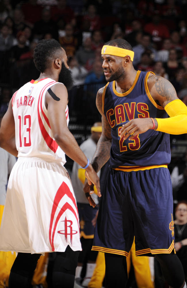 Harden suspended 1 game for kicking James in the groin
