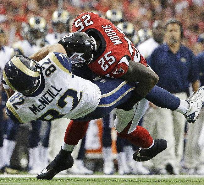 Falcons overcome injuries, beat Rams 31-24