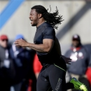 Georgia linebacker Jarvis Jones runs the 40-yard-dash in a workout for NFL football scouts during Georgia Pro Day, Thursday, March 21, 2013, in Athens, Ga. (AP Photo/David Goldman)