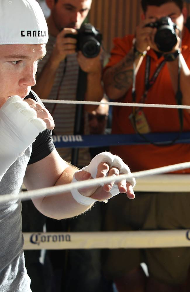 Canelo Alvarez Media Workout