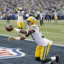 Green Bay Packers' Sam Shields (37) celebrates after intercepting a pass during the first half of the NFL football NFC Championship game against the Seattle Seahawks Sunday, Jan. 18, 2015, in Seattle The Associated Press