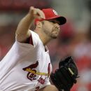 St. Louis Cardinals starting pitcher Jake Westbrook throws during the first inning of a baseball game against the Milwaukee Brewers, Friday, April 27, 2012, in St. Louis. (AP Photo/Jeff Roberson)