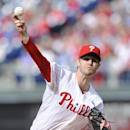 Philadelphia Phillies starting pitcher Kyle Kendrick pitches during the 1st inning of an MBL baseball game against the Milwaukee Brewers on Tuesday, April 8, 2014, in Philadelphia The Associated Press
