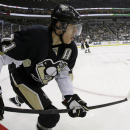Pittsburgh Penguins' Evgeni Malkin (71) skates in the second period of Game 2 of the NHL hockey Stanley Cup Eastern Conference finals against the Boston Bruins in Pittsburgh Monday, June 3, 2013.The Bruins won 6-1. (AP Photo/Gene J. Puskar)