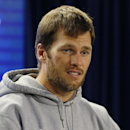 New England Patriots quarterback Tom Brady responds to a reporter's question during a media availability at the NFL football team's facility Tuesday, Oct. 21, 2014 in Foxborough, Mass. The Patriots play the Chicago Bears Sunday in Foxborough The Associate