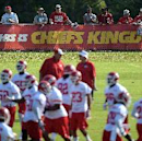 In this Aug. 14, 2014, file photo, Kansas City Chiefs fans watch NFL football practice on the Missouri Western State University campus in St. Joseph. Mo. By making fans feel as though they're part of the team, and offering gifts and experiences exclusive