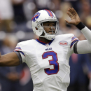 Buffalo Bills' EJ Manuel (3) throws against the Houston Texans during the first quarter of an NFL football game, Sunday, Sept. 28, 2014, in Houston. The Associated Press