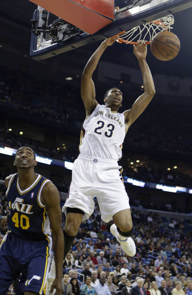 Davis leads Pelicans past Jazz 105-98