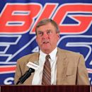 Interim Big East commissioner Joe Bailey speaks with the media during the Big East Conference NCAA college football media day, Tuesday, July 31, 2012, Newport, R.I. (AP Photo/Stew Milne)