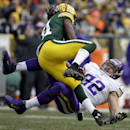 Green Bay Packers' Davon House tackles Minnesota Vikings' Toby Gerhart (32) after a run during the second half of an NFL football game Sunday, Nov. 24, 2013, in Green Bay, Wis The Associated Press