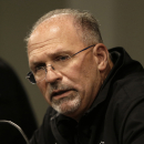 Oakland Raiders interim coach Tony Sparano answers questions from reporters during a media conference Tuesday, Sept. 30, 2014, in Alameda, Calif. Sparano was named interim coach on Tuesday, a day after the firing of head coach Dennis Allen The Associated