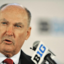 Big Ten Commissioner Jim Delany talks to the media during the Big Ten Football Media Day in Chicago, Monday, July 28, 2014 The Associated Press